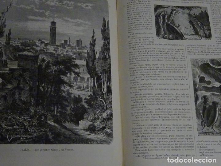 Enciclopedias antiguas: LIBRO TOMO ENCICLOPÉDICO SIGLO XIX AÑO 1879-81. EL MUNDO ILUSTRADO 5. ITALIA CONSTANTI 774PAG. 3,5KG - Foto 9 - 254990380