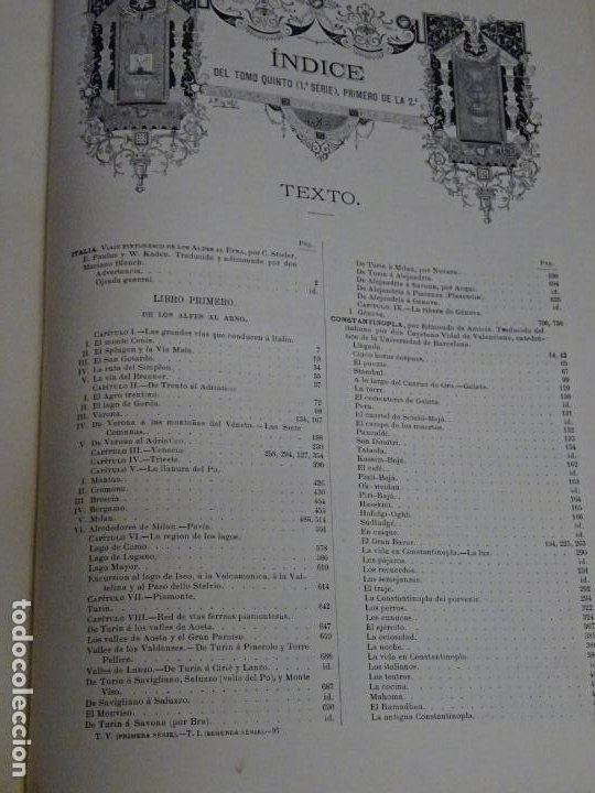 Enciclopedias antiguas: LIBRO TOMO ENCICLOPÉDICO SIGLO XIX AÑO 1879-81. EL MUNDO ILUSTRADO 5. ITALIA CONSTANTI 774PAG. 3,5KG - Foto 10 - 254990380