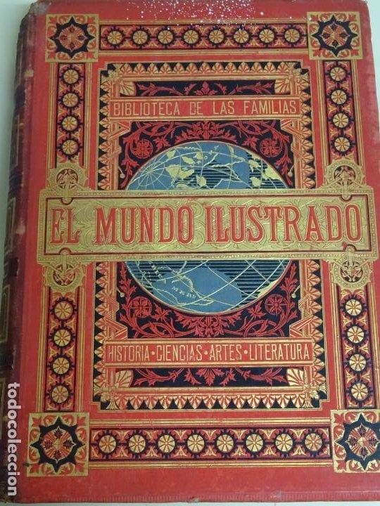 LIBRO TOMO ENCICLOPÉDICO SIGLO XIX AÑO 1879-81. EL MUNDO ILUSTRADO 5. ITALIA CONSTANTI 774PAG. 3,5KG (Libros Antiguos, Raros y Curiosos - Enciclopedias)