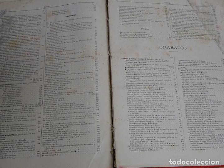 Enciclopedias antiguas: LIBRO TOMO ENCICLOPÉDICO SIGLO XIX AÑO 1880. EL MUNDO ILUSTRADO 4. GRECIA ROMA MAR 760PAG. 3,5KG - Foto 2 - 254991115