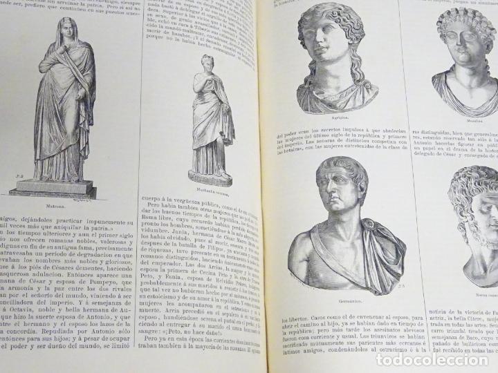 Enciclopedias antiguas: LIBRO TOMO ENCICLOPÉDICO SIGLO XIX AÑO 1880. EL MUNDO ILUSTRADO 4. GRECIA ROMA MAR 760PAG. 3,5KG - Foto 4 - 254991115
