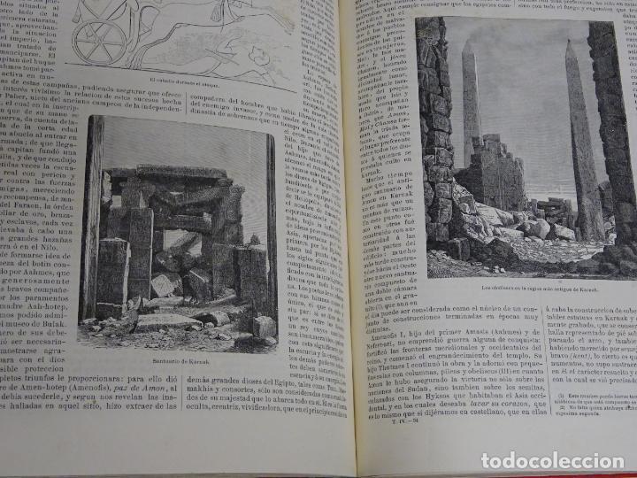 Enciclopedias antiguas: LIBRO TOMO ENCICLOPÉDICO SIGLO XIX AÑO 1880. EL MUNDO ILUSTRADO 4. GRECIA ROMA MAR 760PAG. 3,5KG - Foto 5 - 254991115