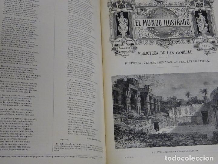 Enciclopedias antiguas: LIBRO TOMO ENCICLOPÉDICO SIGLO XIX AÑO 1880. EL MUNDO ILUSTRADO 4. GRECIA ROMA MAR 760PAG. 3,5KG - Foto 6 - 254991115
