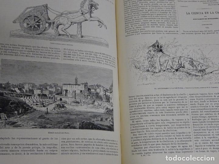 Enciclopedias antiguas: LIBRO TOMO ENCICLOPÉDICO SIGLO XIX AÑO 1880. EL MUNDO ILUSTRADO 4. GRECIA ROMA MAR 760PAG. 3,5KG - Foto 7 - 254991115