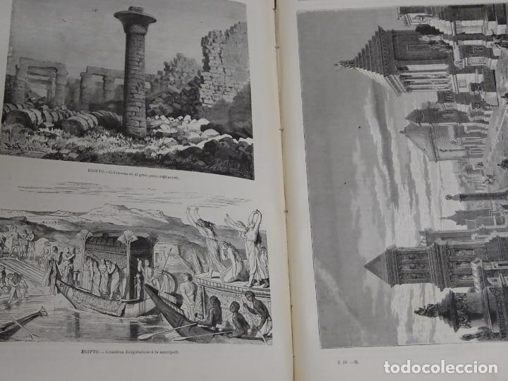 Enciclopedias antiguas: LIBRO TOMO ENCICLOPÉDICO SIGLO XIX AÑO 1880. EL MUNDO ILUSTRADO 4. GRECIA ROMA MAR 760PAG. 3,5KG - Foto 8 - 254991115
