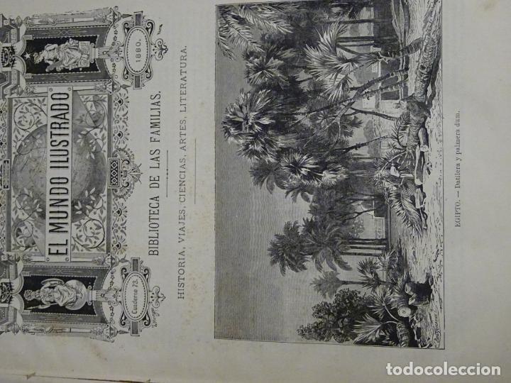 Enciclopedias antiguas: LIBRO TOMO ENCICLOPÉDICO SIGLO XIX AÑO 1880. EL MUNDO ILUSTRADO 4. GRECIA ROMA MAR 760PAG. 3,5KG - Foto 9 - 254991115