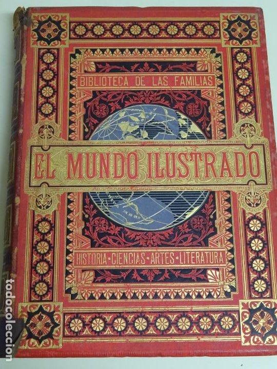 LIBRO TOMO ENCICLOPÉDICO SIGLO XIX AÑO 1880. EL MUNDO ILUSTRADO 4. GRECIA ROMA MAR 760PAG. 3,5KG (Libros Antiguos, Raros y Curiosos - Enciclopedias)
