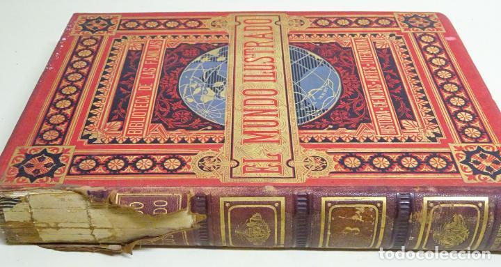 Enciclopedias antiguas: LIBRO TOMO ENCICLOPÉDICO SIGLO XIX AÑO 1880. EL MUNDO ILUSTRADO 3. GRECIA ROMA EGIPTO 768PAG. 3,5KG - Foto 3 - 254991810