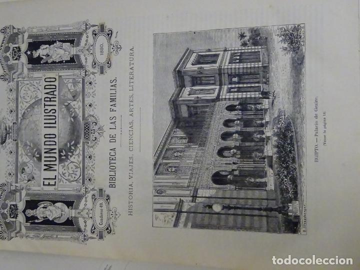 Enciclopedias antiguas: LIBRO TOMO ENCICLOPÉDICO SIGLO XIX AÑO 1880. EL MUNDO ILUSTRADO 3. GRECIA ROMA EGIPTO 768PAG. 3,5KG - Foto 12 - 254991810