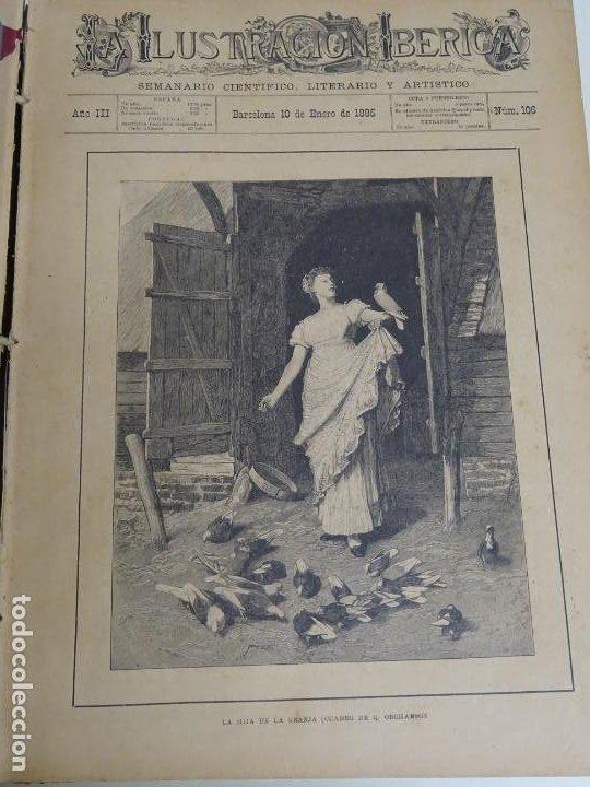 LIBRO TOMO ENCICLOPÉDICO SIGLO XIX AÑO 1885. ILUSTRACIÓN IBÉRICA. TOMO 3. 816P. 3,5KG (Libros Antiguos, Raros y Curiosos - Enciclopedias)