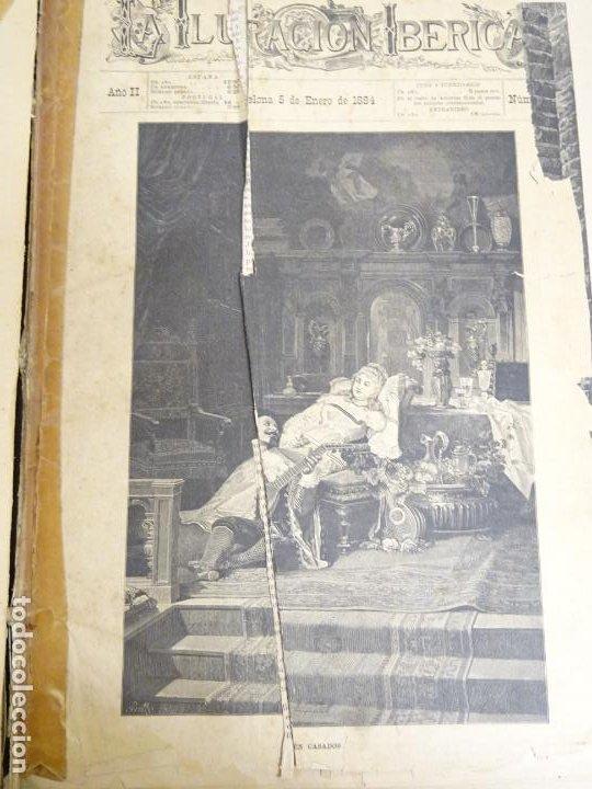 LIBRO TOMO ENCICLOPÉDICO SIGLO XIX AÑO 1884. ILUSTRACIÓN IBÉRICA. TOMO 2. 832P. 3,5KG (Libros Antiguos, Raros y Curiosos - Enciclopedias)