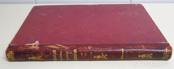 Enciclopedias antiguas: LIBRO TOMO ENCICLOPÉDICO SIGLO XIX AÑO 1886. LA VIDA NORMAL Y SALUD. MONTANER Y SIMÓN 366P. 1,4KG - Foto 3 - 254995400