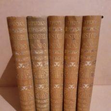 Enciclopedias antiguas: HISTORIA DEL MUNDO 5 TOMOS. Lote 263732110