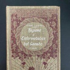 Enciclopedias antiguas: HIGIENE Y ENFERMEDADES DEL GANADO. P. CAGNY & R. GOUIN. ENCICLOPEDIA AGRICOLA SALVAT. BARCELONA,1924. Lote 270125363