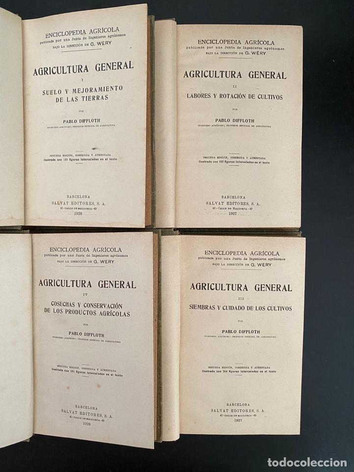 Enciclopedias antiguas: AGRICULTURA GENERAL. 4 TOMOS. P. DIFFLOTH. ENCICLOPEDIA AGRICOLA SALVAT. BARCELONA, 1927-1928 - Foto 3 - 270125683