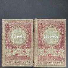 Enciclopedias antiguas: CEREALES. 2 TOMOS. C.V. GAROLA & P. LAVALLEE. NCICLOPEDIA AGRICOLA SALVAT. 2ª ED. BARCELONA, 1930. Lote 270126188