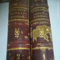 Enciclopedias antiguas: ENCICLOPEDIA POPULAR ILUSTRADA DE CIENCIAS Y ARTES. FEDERICO GILLMAN. TOMO I Y II. 1882. VER FOTOS. Lote 273624408