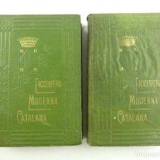 Libri antichi: DOS TOMOS ENCICLOPEDIA MODERNA CATALANA POR JOSEPH FITER EDITOR JOSEPH GALLACH. Lote 275999718