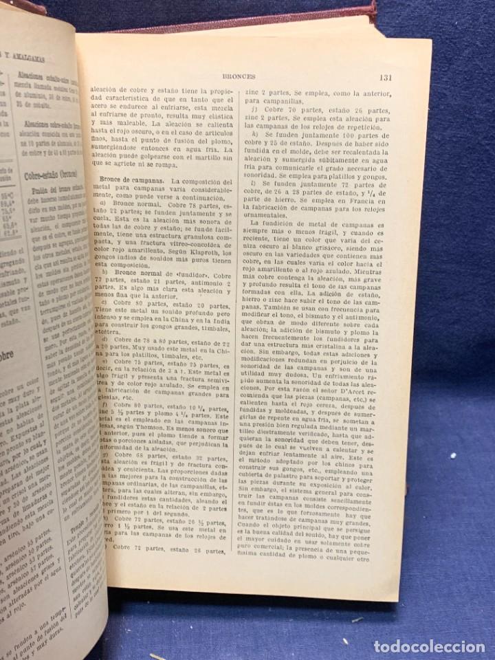 Enciclopedias antiguas: ENCICLOPEDIA RECETARIO INDUSTRIAL HISCOX HOPKINS GUSTAVO GILI 1934 23X16X7CMS - Foto 3 - 283768643