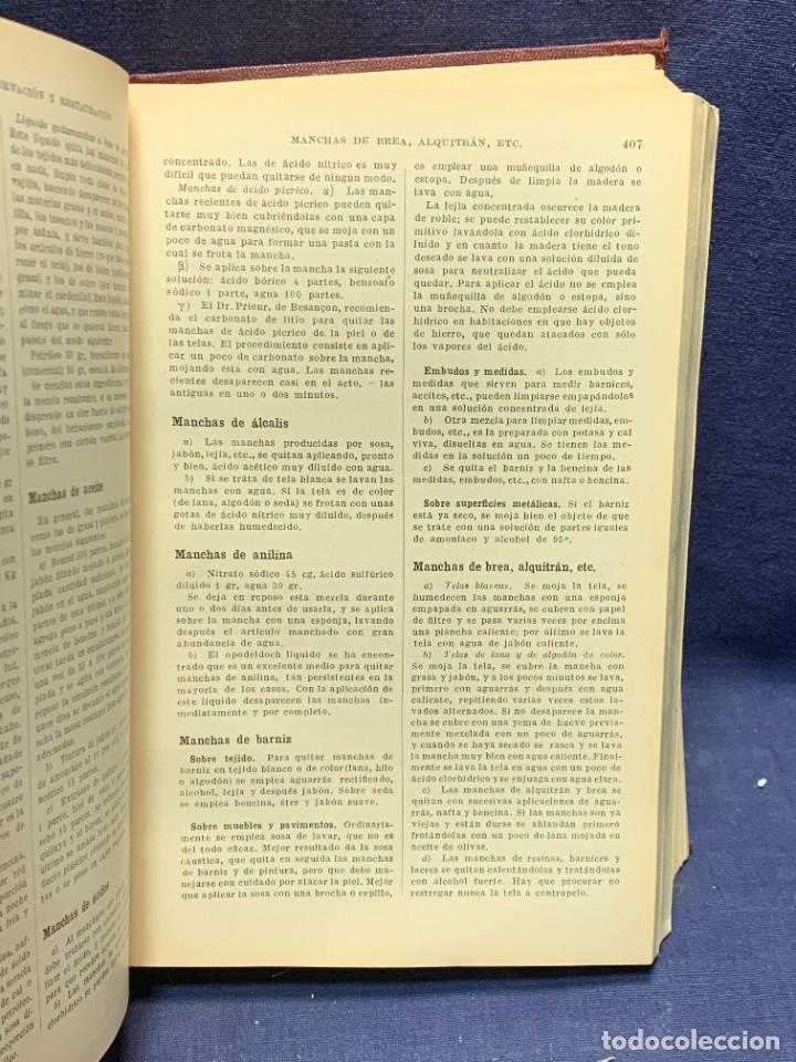 Enciclopedias antiguas: ENCICLOPEDIA RECETARIO INDUSTRIAL HISCOX HOPKINS GUSTAVO GILI 1934 23X16X7CMS - Foto 5 - 283768643