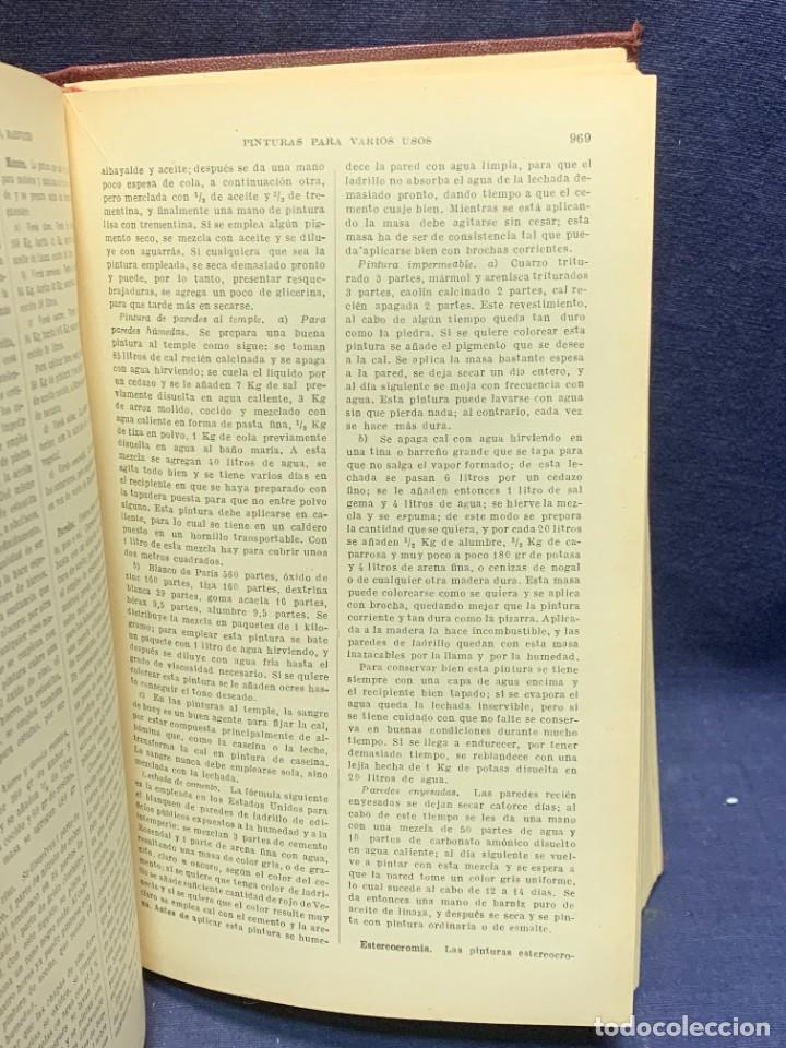 Enciclopedias antiguas: ENCICLOPEDIA RECETARIO INDUSTRIAL HISCOX HOPKINS GUSTAVO GILI 1934 23X16X7CMS - Foto 7 - 283768643