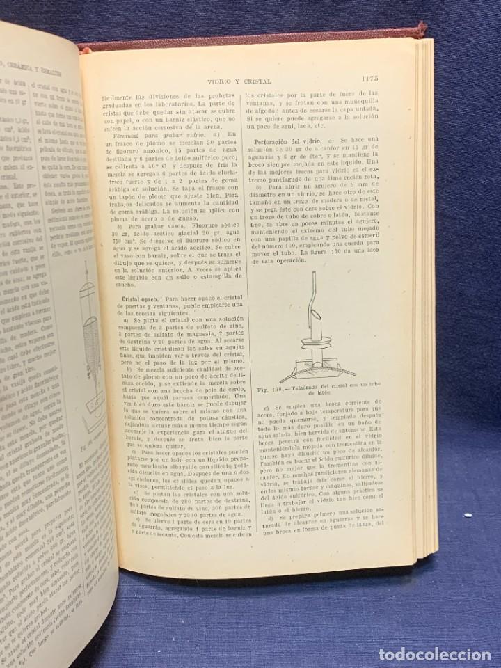 Enciclopedias antiguas: ENCICLOPEDIA RECETARIO INDUSTRIAL HISCOX HOPKINS GUSTAVO GILI 1934 23X16X7CMS - Foto 8 - 283768643