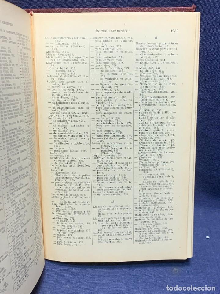 Enciclopedias antiguas: ENCICLOPEDIA RECETARIO INDUSTRIAL HISCOX HOPKINS GUSTAVO GILI 1934 23X16X7CMS - Foto 9 - 283768643