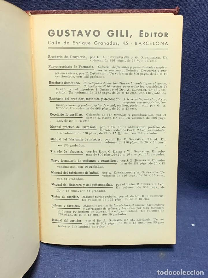 Enciclopedias antiguas: ENCICLOPEDIA RECETARIO INDUSTRIAL HISCOX HOPKINS GUSTAVO GILI 1934 23X16X7CMS - Foto 10 - 283768643