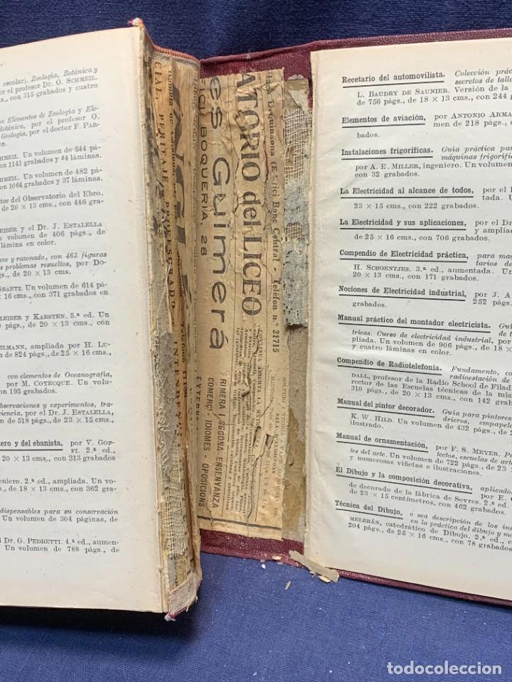 Enciclopedias antiguas: ENCICLOPEDIA RECETARIO INDUSTRIAL HISCOX HOPKINS GUSTAVO GILI 1934 23X16X7CMS - Foto 11 - 283768643