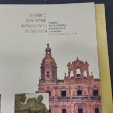 Enciclopedias antiguas: MAQUETA DE LA FACHADA DEL AYUNTAMIENTO DE SALAMANCA. Lote 296854888