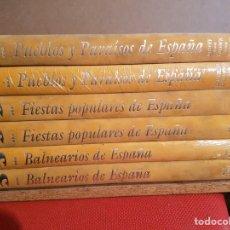 Enciclopedias: CULTURAL EDICIONES EDICIÓN ESPECIAL 6 LIBROS 2 PUEBLOS DE ESPAÑA , 2 FIESTAS POPULARES , 2 BALNEARIO. Lote 81134372