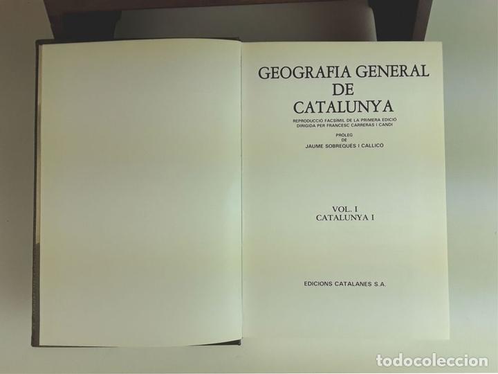 Enciclopedias: GEOGRAFÍA GENERAL DE CATALUNYA. FACSÍMIL. 11 TOMOS. EDICIONS CATALANES. 1980. - Foto 3 - 100588395