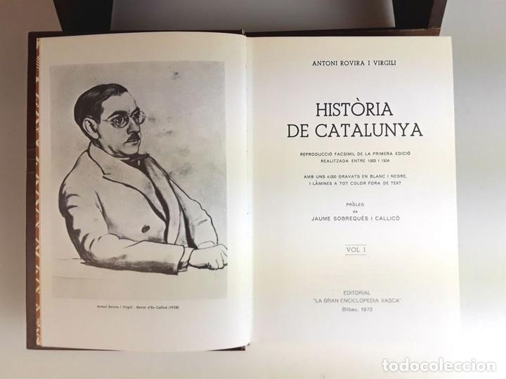 Enciclopedias: HISTÒRIA DE CATALUNYA. FACSÍMIL. 14 TOMOS. J. SOBREQUÉS I CALLICÓ. ENCICLOPEDIA VASCA. 1972/1984. - Foto 3 - 100599867