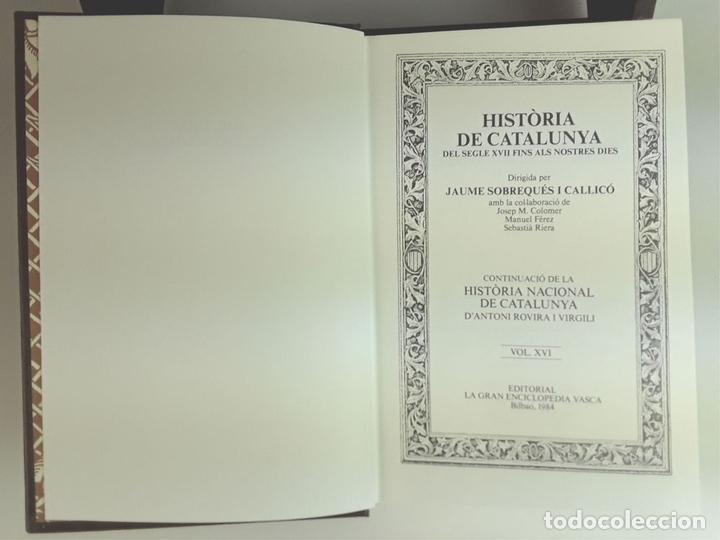 Enciclopedias: HISTÒRIA DE CATALUNYA. FACSÍMIL. 14 TOMOS. J. SOBREQUÉS I CALLICÓ. ENCICLOPEDIA VASCA. 1972/1984. - Foto 6 - 100599867