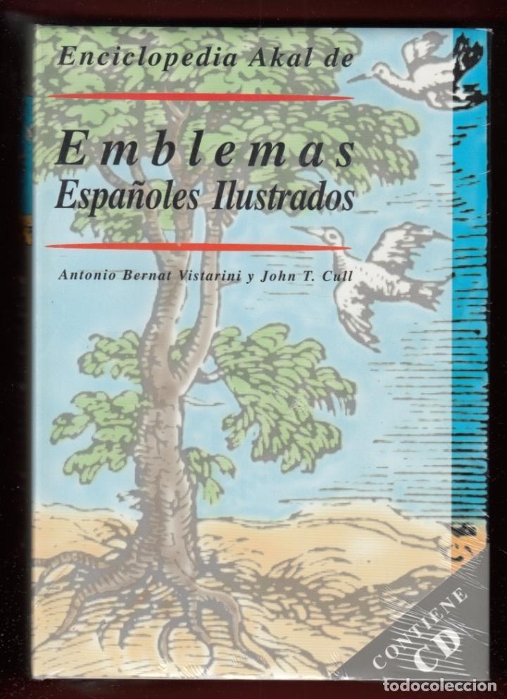 ENCICLOPEDIA AKAL DE EMBLEMAS ESPAÑOLES ILUSTRADOS BERNAT Y CULL 1999 CONTIENE CD ROM PLASTIFICADO (Libros Nuevos - Diccionarios y Enciclopedias - Enciclopedias)