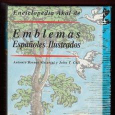 Enciclopedias: ENCICLOPEDIA AKAL DE EMBLEMAS ESPAÑOLES ILUSTRADOS BERNAT Y CULL 1999 CONTIENE CD ROM PLASTIFICADO. Lote 102534343