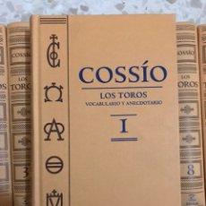 Enciclopedias: EL COSSIO LOS TOROS ENCICLOPEDIA DE LA TAUROMAQUIA. Lote 132979439