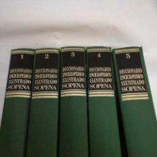 Enciclopedias: LOTE DICCIONARIO ENCICLOPEDICO ILUSTRADO SOPENA TOMOS 1-2-3-4-5. Lote 147534462