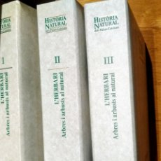 Enciclopedias: 1998 ENCICLOPEDIA CATALANA, L'HERBARI, 3 CARPETAS. Lote 144408097
