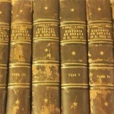 Enciclopedias: HISTORIA DE ESPAÑA EN EL SIGLO XIX PI Y MARGALL PI Y ARSUAGA. 8 VOLUMENES (COMPLETA) 1902. Lote 146809438