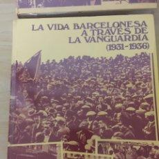 Enciclopedias: LA VIDA BARCELONESA A TRAVÉS DE LA VANGUARDIA.. Lote 147960202