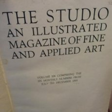 Enciclopedias: BJS.THE STUDIO AN ILLUSTRATED MAGAZINE OF FINE AND APPLIED ART.VOLUME 106... Lote 150967606