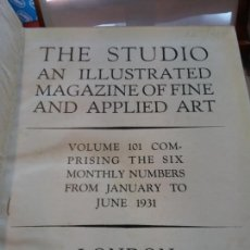 Enciclopedias: BJS.THE STUDIO AN ILLUSTRATED MAGAZINE OF FINE AND APPLIED ART.VOLUME 101... Lote 150969226