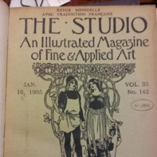 Enciclopedias: BJS.THE STUDIO AN ILLUSTRATED MAGAZINE OF FINE AND APPLIED ART.VOLUME 33.BRUMART TU LIBRERIA.. Lote 151053442
