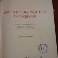 Enciclopedias: STQ.ENCICLOPEDIA PRACTICA DE DERECHO.EDT, LABOR... Lote 151078290