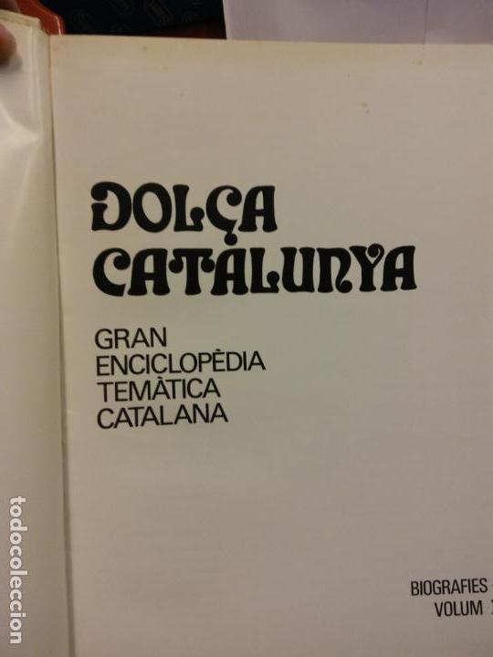 BJS.ENCICLOPEDIA DOLÇA CATALUNYA.BIOGRAFIES. 2 TOMOS.EDT, MATEU.. (Libros Nuevos - Diccionarios y Enciclopedias - Enciclopedias)