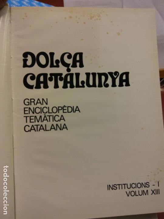 BJS.ENCICLOPEDIA DOLÇA CATALUNYA.INSTITUCIONS. 2 TOMOS.EDT, MATEU.. (Libros Nuevos - Diccionarios y Enciclopedias - Enciclopedias)