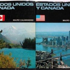 Enciclopedias: ESTADOS UNIDOS Y CANADA. MAURO CALAMANDREI. 2 TOMOS. Lote 160156318