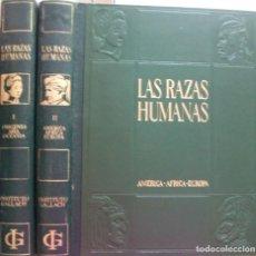 Enciclopedias: LAS RAZAS HUMANAS. 2 TOMOS. AMERICA-AFRICA-EUROPA. 1971. Lote 171189133
