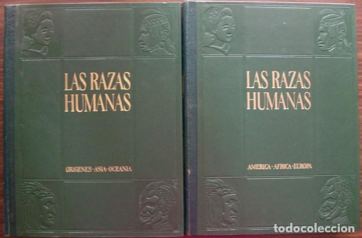 Enciclopedias: LAS RAZAS HUMANAS. 2 TOMOS. AMERICA-AFRICA-EUROPA. 1971 - Foto 2 - 171189133